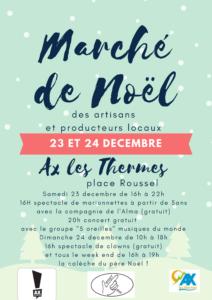 marché de noël ax les thermes les 23 et 24 décembre