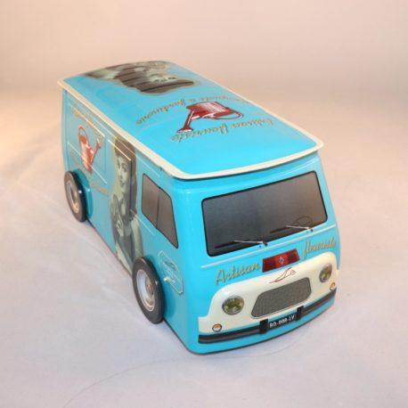 Camion rétro bleue artisan fleuriste