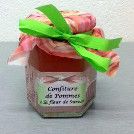 Confiture de pomme à la fleur de sureau