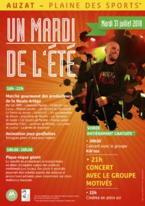 marché artisanal concert gratuit auzat Ariège