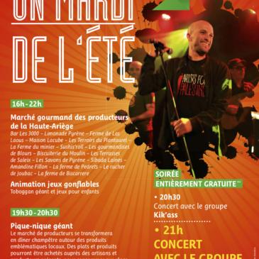 Marché artisanal Ariège ,Concert à Auzat