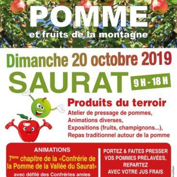 Fête de la pomme à Saurat dimanche 20 octobre 2019