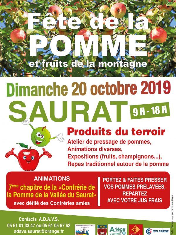 Fete de la pomme à Saurat dimanche 20 octobre 2019