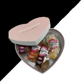 coffret cadeau st Valentin 4 parfums biscuits artisanaux fabriqué en Ariege